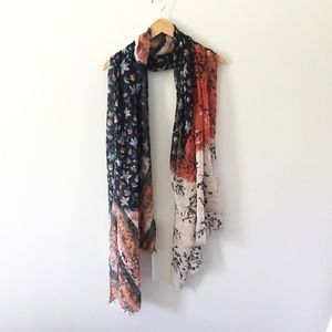 Versatile Scarf with Botanical Silhouettes ~ NWT